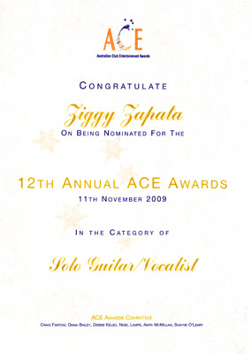 ACE Awards nomination 2009