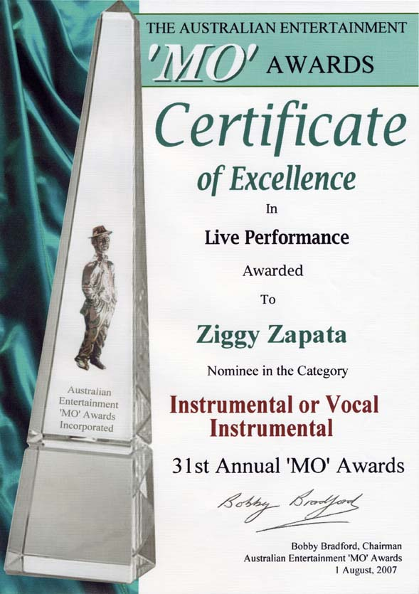 MO Award nomination 2007