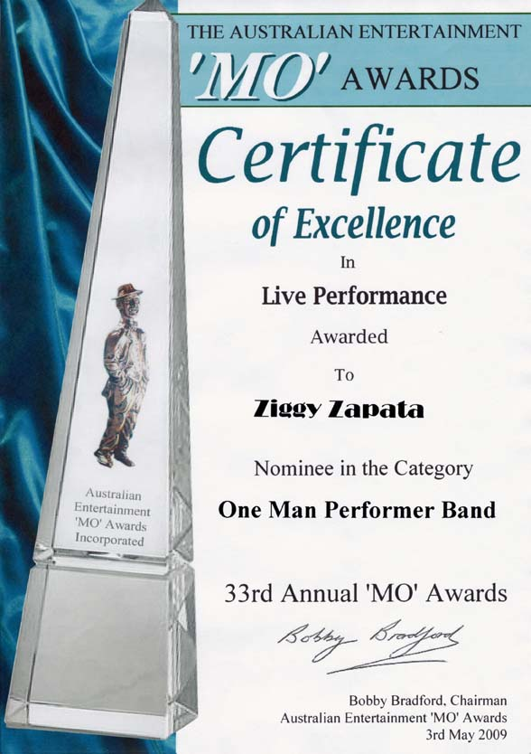 MO Award nomination 2009